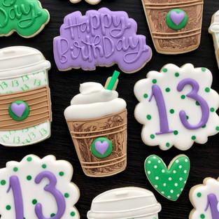 Coffee Birthday Cookies
