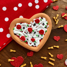 Heart Pizza Valentine's Day Cookies
