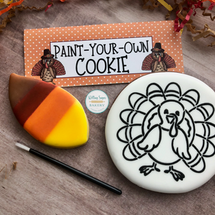Paint-Your-Own Thanksgiving Turkey Cookie