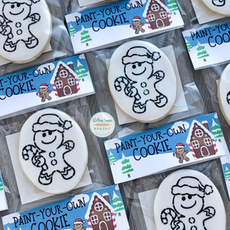 Paint-Your-Own Gingerbread Christmas Cookies