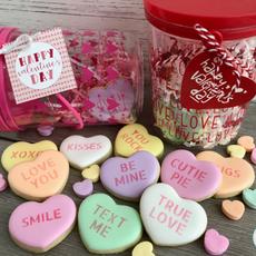 Conversation Heart Valentine's Day Cookies
