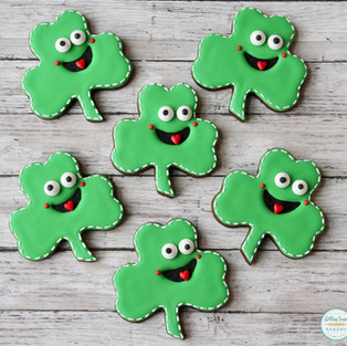 Smiling Shamrock St. Patrick's Day Cookies