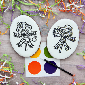 Paint-Your-Own Scarecrow Cookies