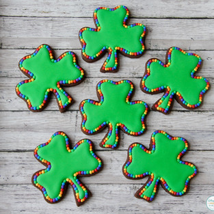 Rainbow Shamrock St. Patrick's Day Cookies
