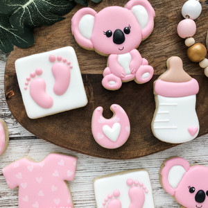 Koala Baby Shower Cookies
