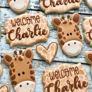 Baby Giraffe Cookies