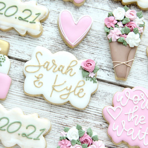 Save the Date Wedding Cookies