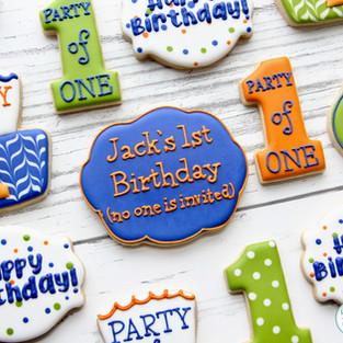 Quarantine Birthday Cookies