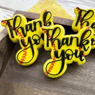 Softball Coach Thank You Cookies