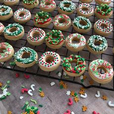 Mini Donut Christmas Cookies