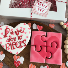 Love You To Pieces Valentine's Day Cookies