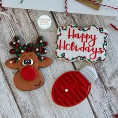 Red Nosed Reindeer Christmas Cookies