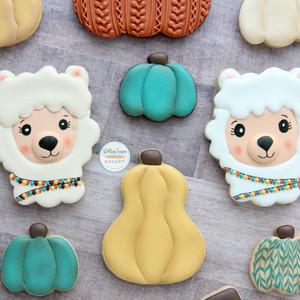 Fall Llama Cookies