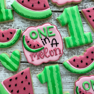 One in a Melon Birthday Cookies