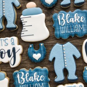 Blue Baby Shower Cookies