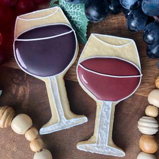 Wine Glass Cookies