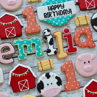 Farm Birthday Cookies
