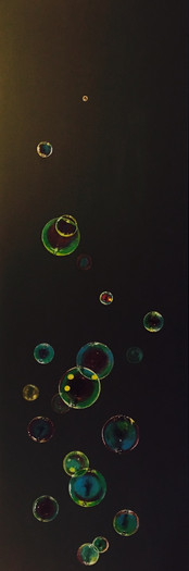 Bubbles on Black - SOLD