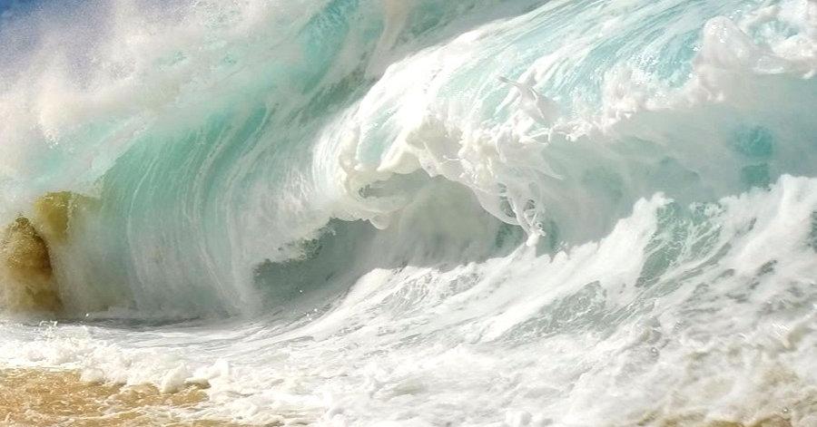 Grosse vague en bord de mer