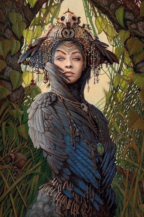 Corvid Priestess -- Original Art