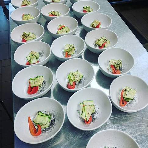 Such a work of art _chefsangtran84 this consume can not be described until you try it #copperandspoon#popupdinners#essendoncafe_Next popup o