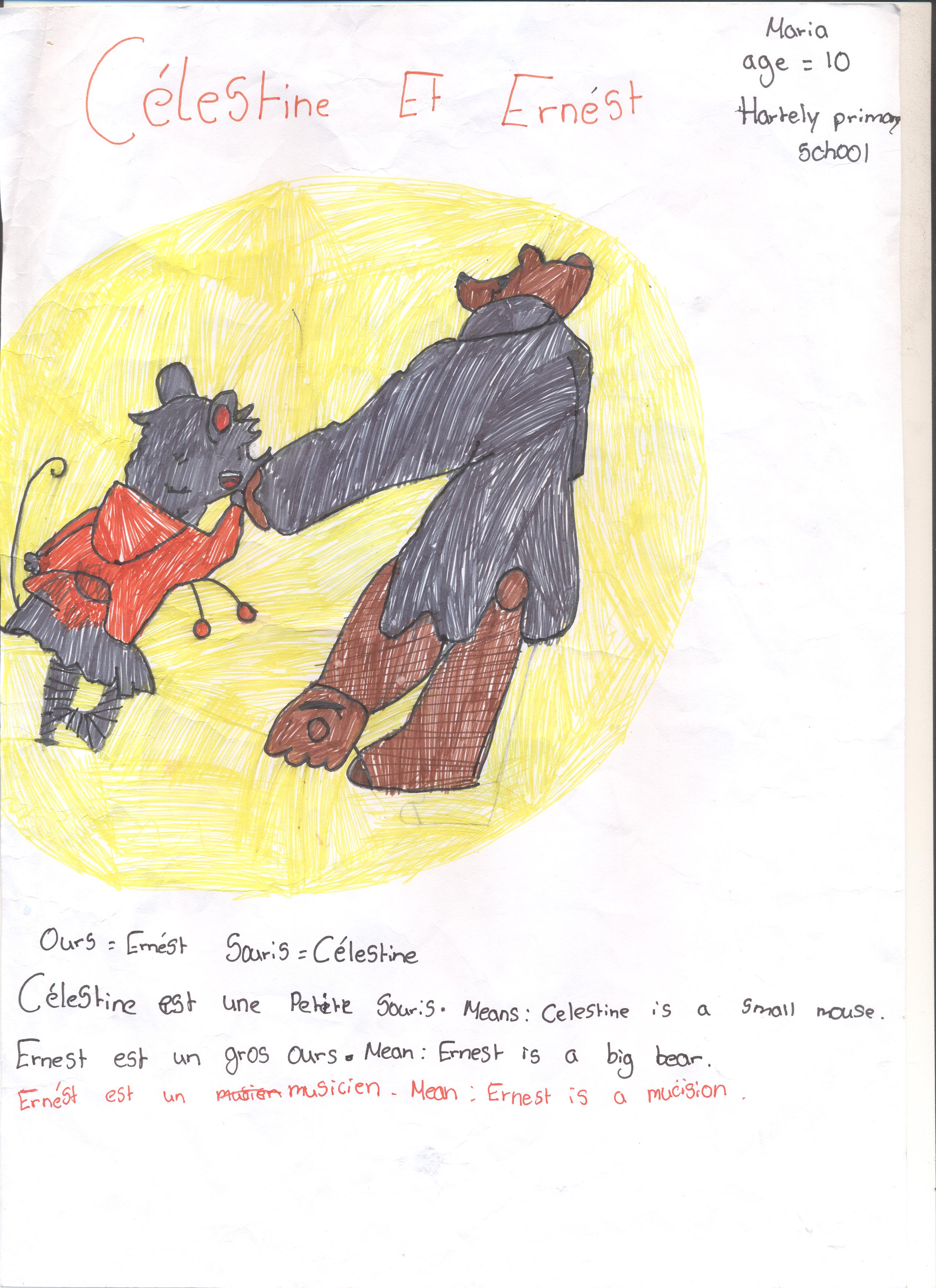 Film Reviews And Drawings From Hartley Primary School Ernest Celestine