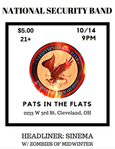 Pats In the Flats, Cleveland, OH 10/14/2017
