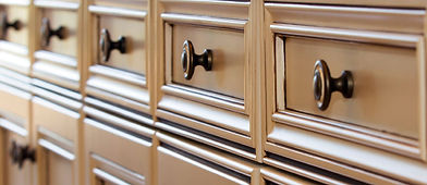 Decorative knob hardware for cabinet drawers