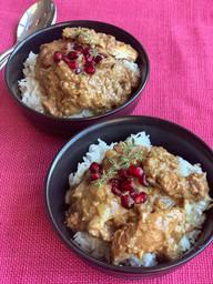 Persian Fesenjen Chicken & Walnut with p