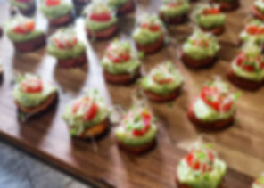 Latitudes wedding canapés devon catering