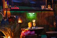 Tiki bar at Ash Barton
