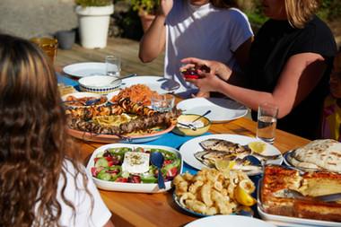 Greek mezze family meal