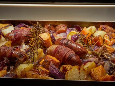 Festive Christmas tray bake