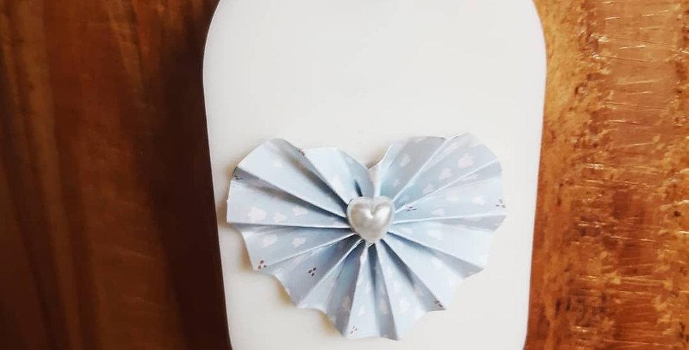 Parfum à suspendre ORIGAMI bleu senteur Fleur de coton - forme aléatoire -