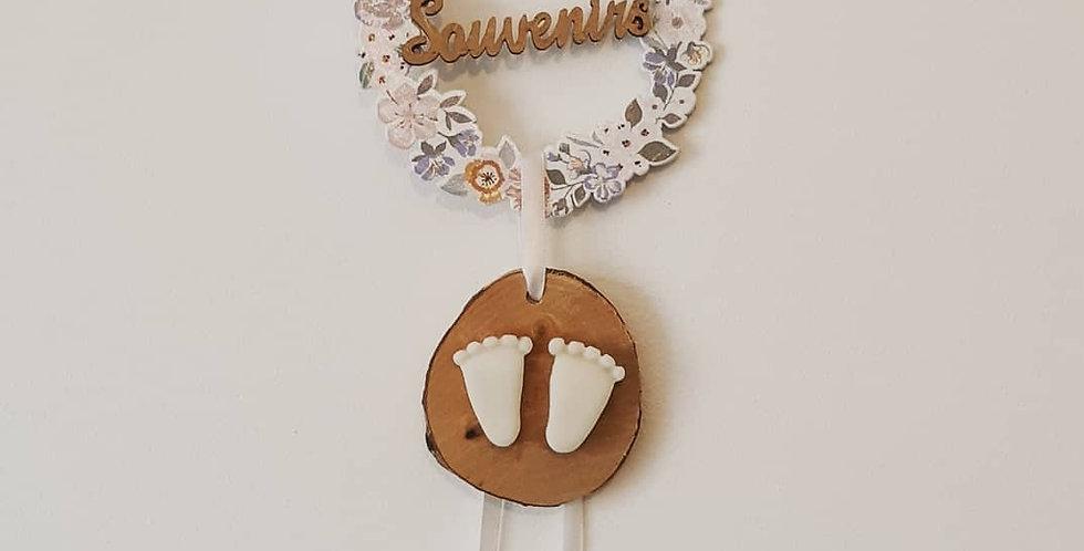 """SOUVENIRS D'ENFANCE senteur Fleur de coton - Fleurs, mot """"Souvenirs"""" -"""