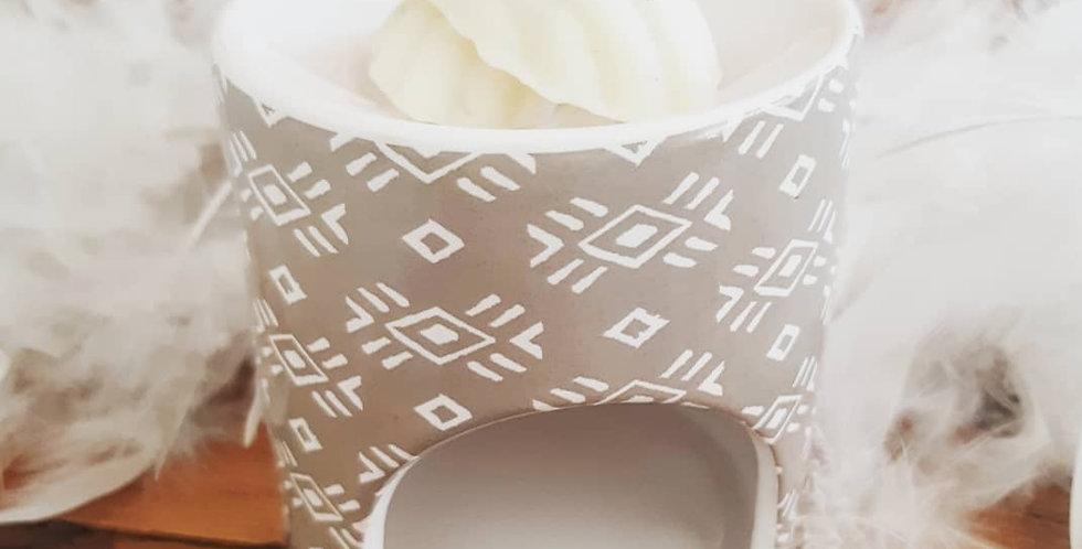 Accessoire BRULE PARFUM couleur Taupe motif blanc