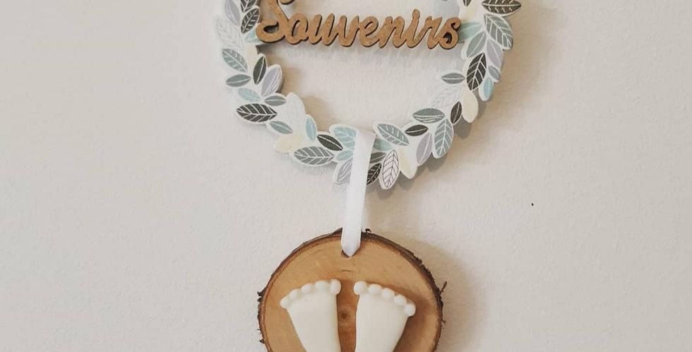 """SOUVENIRS D'ENFANCE senteur Fleur de coton - Feuillage, mot """"Souvenirs"""" -"""