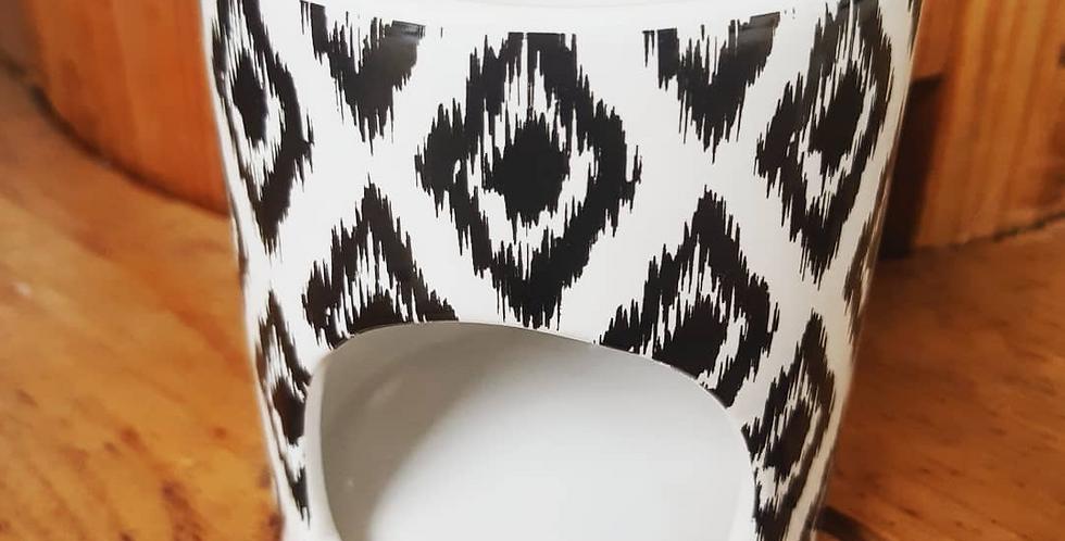 Accessoire BRULE PARFUM couleur Blanc motif noir