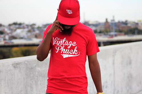 Red Vintage Phuck T Shirt Unisex