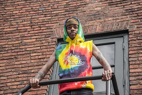 Tie Dye Sleeveless Hoodie