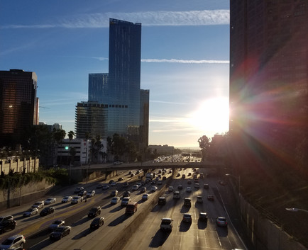 View across the 110 in the day