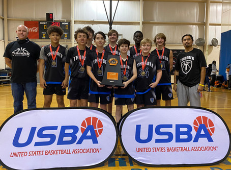 """2026B USBA """"Future of the Game"""" Champions. Cooper Bell named MVP."""