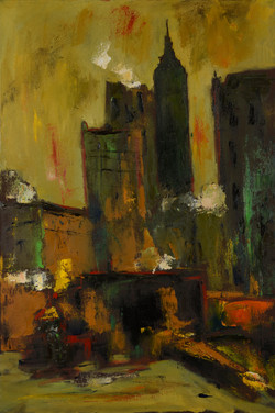 """New York City, Nighttime"" 36x24 o/c"