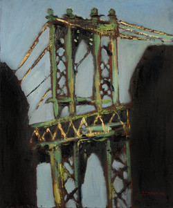 Manhattan Bridge, 30x24, o/c