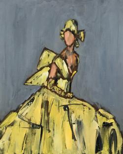 Yellow Dress, 20x16, o/c