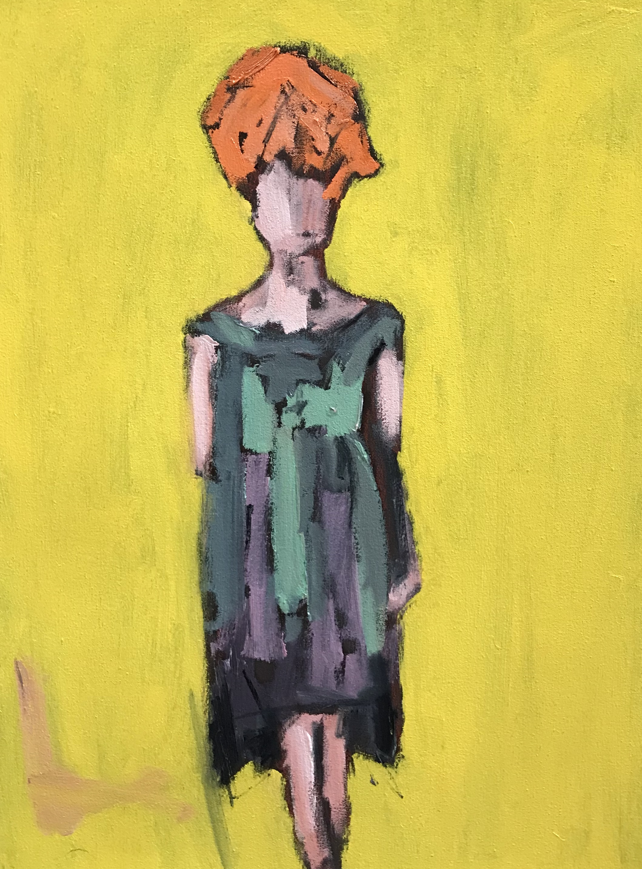 Green Dress, 24x18, o/c