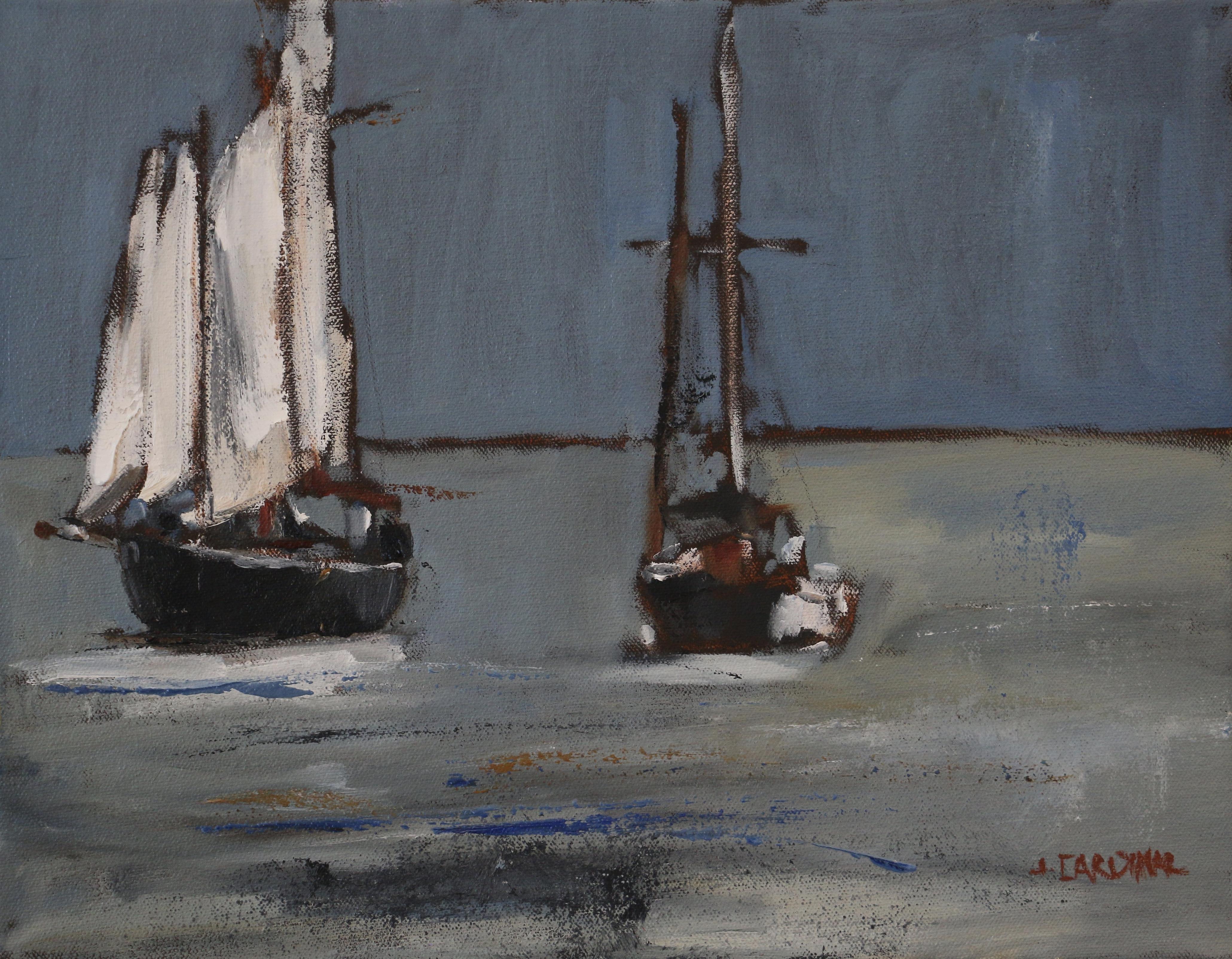Evening Sail, 11x14, o/c