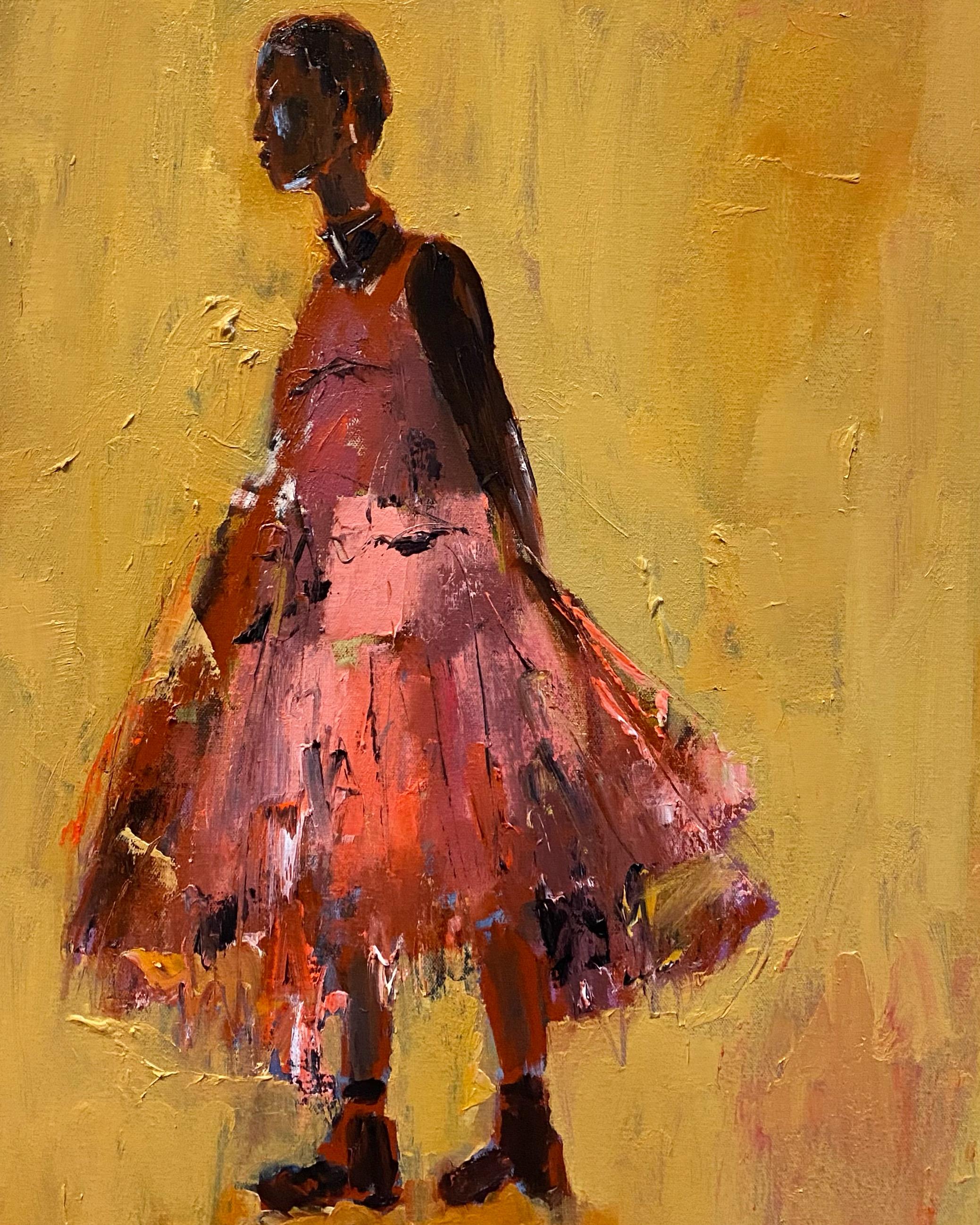 Pink Dress 24x18 o/c