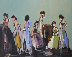 Before The Party, 24x30, o/c