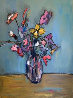 """Summer Bouquet"", 48x36, o/c"
